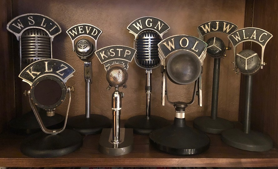I am a historian & collector of vintage radio station &broadcasting microphone flags. Email me at Rocketship7@aol.com for more information.